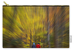 Carry-all Pouch featuring the photograph A Fall Stroll Taughannock by Jerry Fornarotto