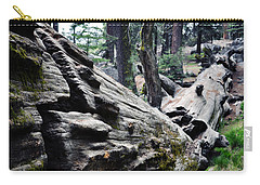 Carry-all Pouch featuring the photograph A Fallen Giant Sequoia by Kyle Hanson