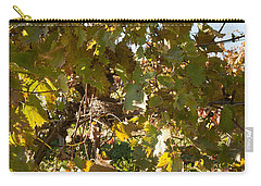 Carry-all Pouch featuring the photograph A Few Grapes Left For The Birds by Carol Lynn Coronios
