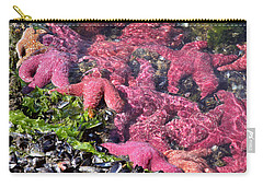 Carry-all Pouch featuring the photograph A Few Of My Colorful Friends by Peggy Collins