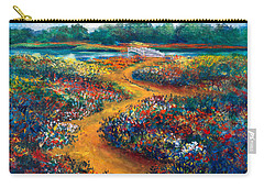 A Field Of Flowers And The Bridge Beyond Carry-all Pouch