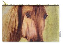 Carry-all Pouch featuring the painting A Fine Horse by Xueling Zou