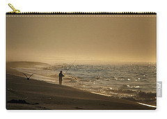 Carry-all Pouch featuring the photograph A Fisherman's Morning by GJ Blackman