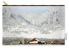 Carry-all Pouch featuring the photograph A Flatirons Favorite by Marilyn Hunt