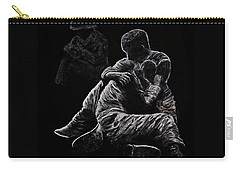 Carry-all Pouch featuring the painting My Friend Killed In Korean War by Bob Johnston