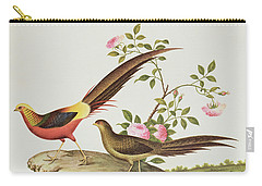 A Golden Pheasant Carry-all Pouch by Chinese School