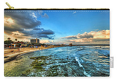 Carry-all Pouch featuring the photograph a good morning from Hilton's beach by Ron Shoshani