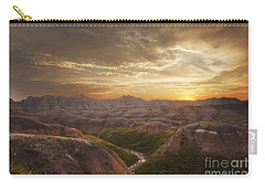 A Good Sunrise In The Badlands Carry-all Pouch