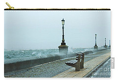 A Grey Wet Day By The Sea Carry-all Pouch