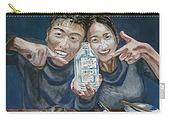 Carry-all Pouch featuring the painting A Happy Birthday by Anna Ruzsan