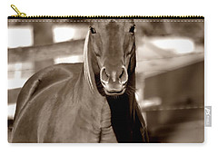 Carry-all Pouch featuring the photograph A Horse Is A Horse by Deena Stoddard