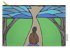 Carry-all Pouch featuring the painting A Horse Of A Different Colour by Barbara St Jean