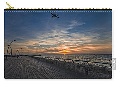 Carry-all Pouch featuring the photograph a kodak moment at the Tel Aviv port by Ron Shoshani