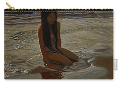 A Line Between Ocean And Sand Carry-all Pouch by Thu Nguyen