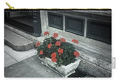Carry-all Pouch featuring the photograph A Little Color In A Drab World by Rodney Lee Williams