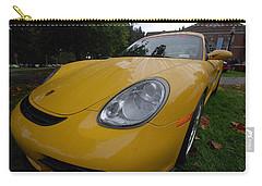 Carry-all Pouch featuring the photograph A Little Yellow Porsch by John Schneider