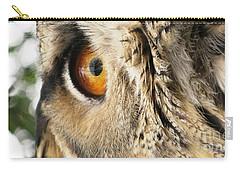Carry-all Pouch featuring the photograph Bubo Bubo- Eurasian Eagle Owl. Close Up. by Ausra Huntington nee Paulauskaite