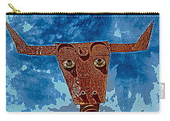 Carry-all Pouch featuring the photograph A Lucky Bull by Lynn Sprowl
