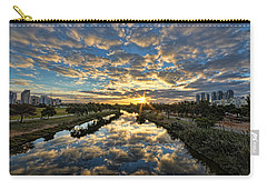 Carry-all Pouch featuring the photograph A Magical Marshmallow Sunrise  by Ron Shoshani