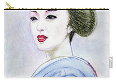 Carry-all Pouch featuring the drawing A Maiko  Girl by Yoshiko Mishina