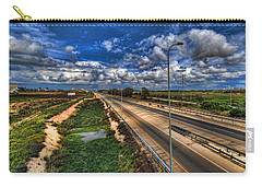 Carry-all Pouch featuring the photograph a majestic springtime in Israel by Ron Shoshani