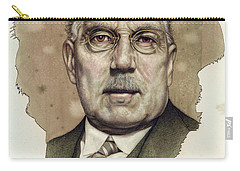 Carry-all Pouch featuring the painting A Man Who Used To Be A Big Cheese by James W Johnson