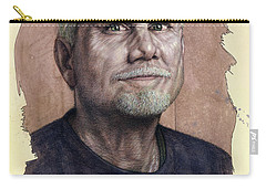 Carry-all Pouch featuring the painting A Man Who Used To Be A Serious Artist by James W Johnson