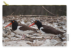 A Mated Pair Of Oyster Catchers Carry-all Pouch