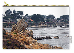Carry-all Pouch featuring the photograph A Misty Day At Pacific Grove by Susan Wiedmann