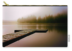 Carry-all Pouch featuring the photograph A Misty Morning On The Lake by Peggy Collins