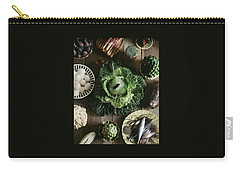A Mixed Variety Of Food And Ceramic Imitations Carry-all Pouch