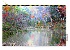 Carry-all Pouch featuring the photograph A Monet Autumn by Mariarosa Rockefeller