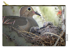 Carry-all Pouch featuring the photograph A Mothers' Love by Deb Halloran