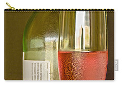 A Nice Glass Of Wine Carry-all Pouch by Charles Beeler
