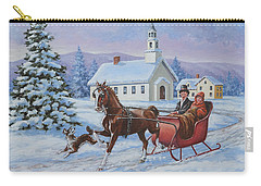 A One Horse Open Sleigh Carry-all Pouch