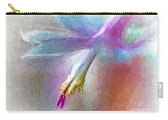 A Painted Christmas Cactus  Carry-all Pouch