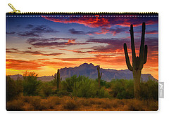 A Painted Desert  Carry-all Pouch