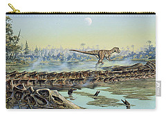 A Pair Of Allosaurus Dinosaurs Explore Carry-all Pouch