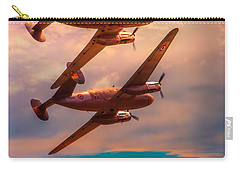 Carry-all Pouch featuring the photograph A Pair Of Flamingos by Chris Lord