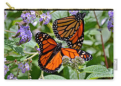 A Pair Of Monarch Butterflies Carry-all Pouch