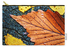 Carry-all Pouch featuring the photograph A Parking Space For Autumn Leaf by Gary Slawsky