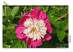 Carry-all Pouch featuring the digital art A Peony Bowl by Eva Kaufman