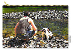 Carry-all Pouch featuring the photograph A Perfect Day by Micki Findlay