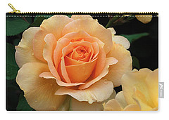 Carry-all Pouch featuring the digital art A Perfect Orange Rose by Eva Kaufman