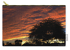 Carry-all Pouch featuring the photograph A Phoenix Sunset by Tom Janca