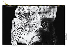 A Picture Of A Venitian Mask Accompanied By An Oscar Wilde Quote Carry-all Pouch