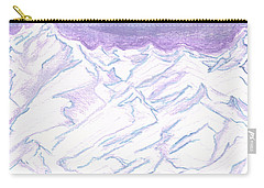 A Piece Of The Alaskan Range Carry-all Pouch