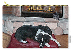 Carry-all Pouch featuring the painting A Place By The Fire by Fran Brooks