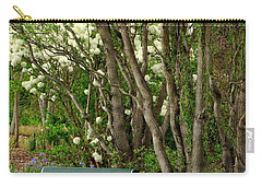 Carry-all Pouch featuring the photograph A Place To Sit by Rodney Lee Williams