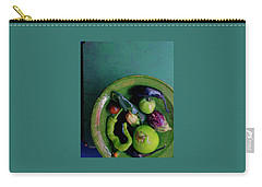 A Plate Of Vegetables Carry-all Pouch by Romulo Yanes